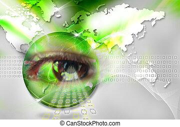 目, デジタル