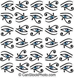 目, 力, horus, エジプト人, シンボル, wadjet, 皇族, 保護, ∥あるいは∥