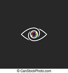 目, 形態, カメラマン, logotype, レンズ, スタジオ, 生徒, 人間, 写真, 開き, ∥あるいは∥, ロゴ