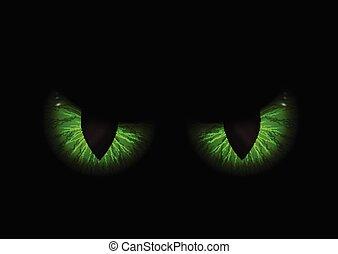 目, 緑, 悪, 背景, 1409