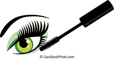 目, 緑, mascara