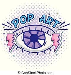 目, 芸術, 人間, ポンとはじけなさい