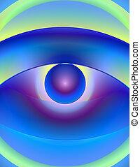 目, allegoric, 抽象的, -, イラスト, 1, blurry