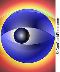 目, allegoric, 抽象的, -, イラスト, 2, blurry