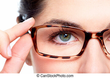 目, glasses.