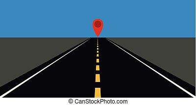 直接, 高速公路, 路, 由于, 黃色, 標號