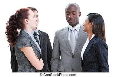 相互作用, ビジネス チーム, ポジティブ, 多様