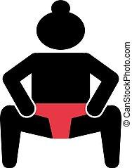 相撲, pictogram