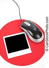 相片, 以及, 電腦 老鼠