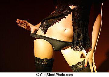 相片, ......的, 性感, 女人身体