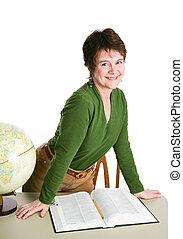 相當, 老師, 或者, 圖書館管理員