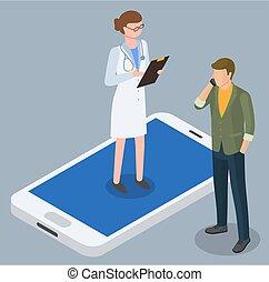 相談しなさい, 薬, 電話, 人, 医者, オンラインで