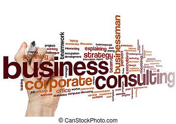 相談, 単語, ビジネス, 雲