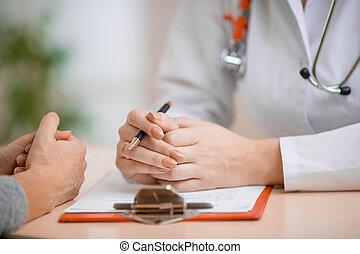 相談, 患者, オフィス, 医者