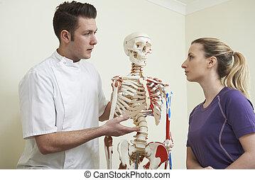 相談, 患者, 整骨医, 女性