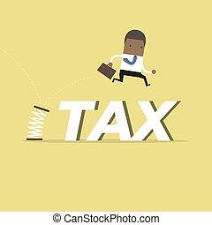 省略, ビジネスマン, spring., 税, アフリカ