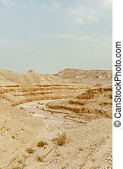 看法, 從, 山, 上, 乾燥, 中東, 荒野, 在, israel.