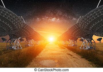 看法, 無線電望遠鏡, 夜晚