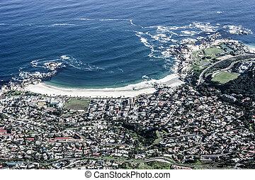 看法, ......的, 表格山, 由于, 城市, (cape, 鎮, 南方, africa)