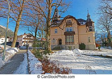 看法, ......的, the, 迷人, 房子, 在, garmisch-partenkirchen
