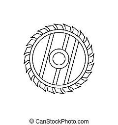 看見, 圓, 輪子, 圖象, outline, 風格
