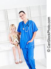 看護婦の患者, 女の子