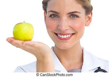 看護婦, アップル, 彼女, 手
