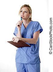 看護婦, クリップボード