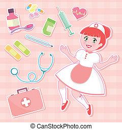 看護婦, セット