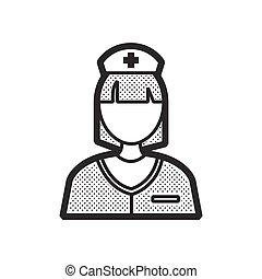 看護婦, ベクトル, デザイン, アイコン