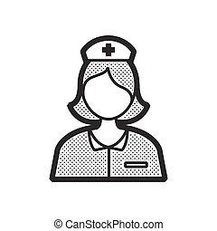 看護婦, ベクトル, デザイン, avatar, アイコン