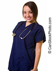 看護婦, 味方, 若い