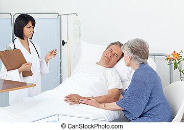 看護婦, 恋人, 病院