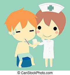 看護婦, 患者