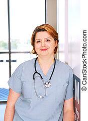看護婦, 病院