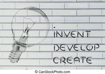 真正, 光輝, 建立, 發展, 想法,  success:, 發明