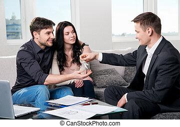 真正, 夫婦, 代理, 財產, 愉快