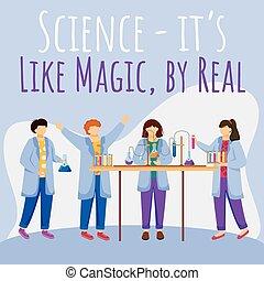 真正, 旗幟, 魔術, 化學, 网, 說明, booster., 套間, experiments., 社會, 孩子, 不過, mockup., 相象, 海報, 媒介, 促進, 科學, 郵寄, 設計, template., 做廣告