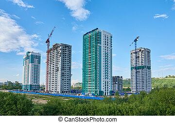 真正, estate., 建設, 新的家, 建造房子