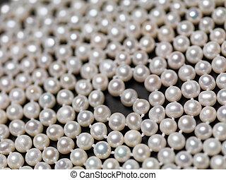 真珠, ビーズ, 抽象的, 背景