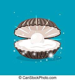 真珠, 中, 殻, きらめき