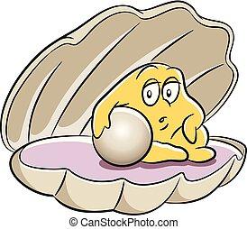 真珠, 殻, 漫画
