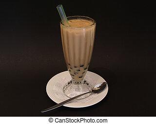 真珠, 氷った, ミルク, お茶