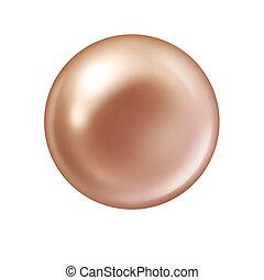 真珠, 白, 隔離された