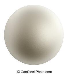 真珠, 白, 隔離された, バックグラウンド。
