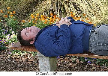 眠ったままで, 庭