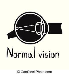 眼球, stock., 器官, デザイン, シンボル。, アイコン, グラフィック, 視力, ベクトル