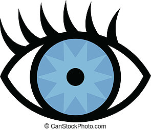 眼睛, 同时,, 睫毛