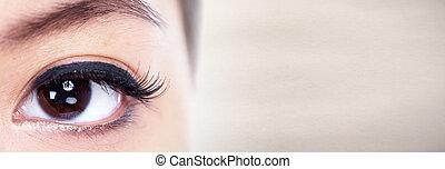 眼睛, 妇女
