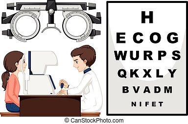 眼睛, 病人, 醫生